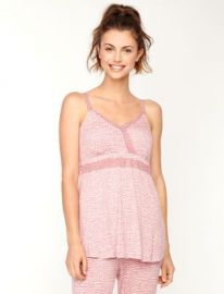 Lace trim nursing camisole in heart print at A Pea in the Pod