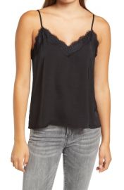 Lace trim satin camisole at Nordstrom