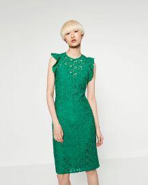 Lace tube dress at Zara
