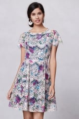 Lacepaint flared dress at Anthropologie