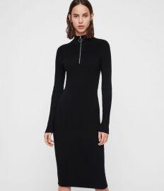 Lacey Rib Dress at All Saints