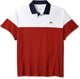 Lacoste Color Blocked Polo at Amazon