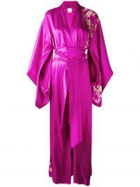 Lacy Long Kimono by Carine Gilson at Farfetch