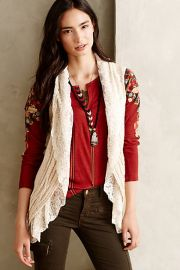 Lacy Sweater Vest at Anthropologie