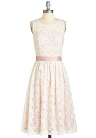 Lacy in Love Dress in Blush at ModCloth