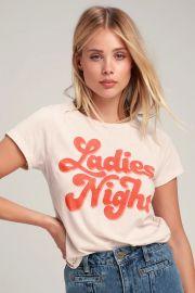 Ladies Night Pale Nude Tee by Junk Food Clothing at Lulus