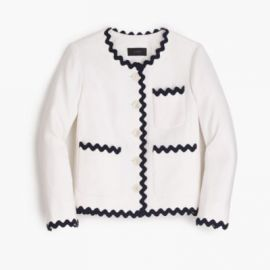 Lady jacket with rickrack trim at J. Crew