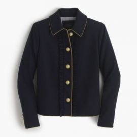Lady jacket with ruffles at J. Crew