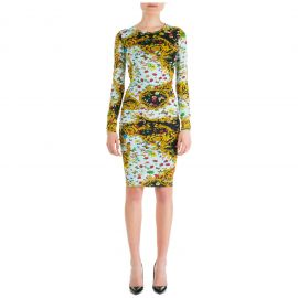 Ladybug Baroque Print Dress by Versace at Italist