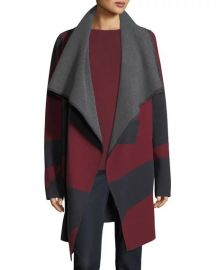 Lafayette 148 New York Reversible Jacquard Cashmere Cardigan at Neiman Marcus