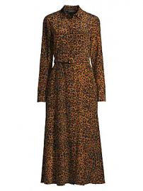 Lafayette 148 New York - Augustina Leopard-Print Silk Dress at Saks Fifth Avenue