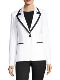 Lafayette 148 New York - Briley Contrast Banding Blazer at Saks Fifth Avenue