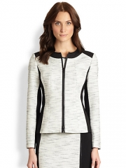 Lafayette 148 New York - Essa Tweed Zip Jacket at Saks Fifth Avenue