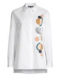 Lafayette 148 New York - Everson Embroidered Blouse at Saks Fifth Avenue