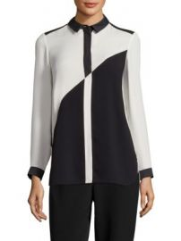 Lafayette 148 New York - Jamila Colorblock Blouse at Saks Fifth Avenue