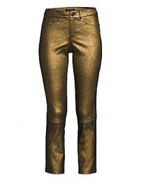 Lafayette 148 New York - Mercer Cropped Metallic Leather Skinny Pants at Saks Fifth Avenue