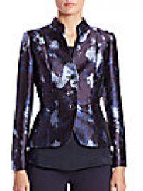 Lafayette 148 New York - Metallic Jacquard Printed Jacket at Saks Off 5th