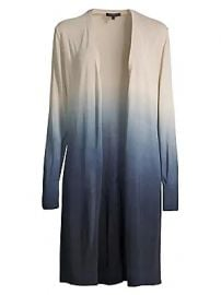 Lafayette 148 New York - Open Front Dip-Dye Cardigan at Saks Fifth Avenue