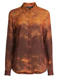Lafayette 148 New York - Zora Sunset Sky Silk Blouse at Saks Fifth Avenue