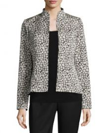 Lafayette 148 New York Amia Leopard Jacquard Jacket at Neiman Marcus