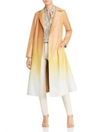 Lafayette 148 New York Avrielle Ombr amp eacute  Leather Trench Coat Women - Bloomingdale s at Bloomingdales