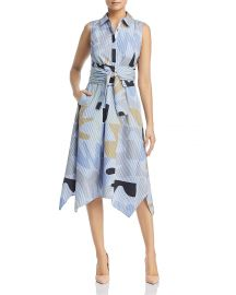 Lafayette 148 New York Cordelia Printed Midi Shirt Dress at Bloomingdales