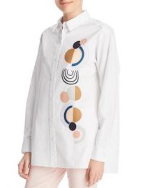 Lafayette 148 New York Everson Embroidered Blouse Women - Bloomingdale s at Bloomingdales