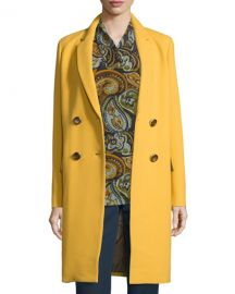 Lafayette 148 New York Gianna Double-Breasted Wool-Blend Coat at Neiman Marcus