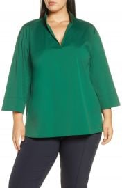 Lafayette 148 New York Hawkins Blouse  Plus Size    Nordstrom at Nordstrom