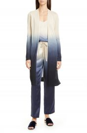 Lafayette 148 New York Open Front Dip Dyed Cardigan   Nordstrom at Nordstrom