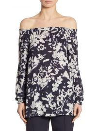 Lafayette 148 New York Raelyn Floral-Print Blouse at Saks Off 5th