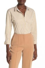 Lafayette 148 New York Sabrina Striped Shirt at Nordstrom Rack