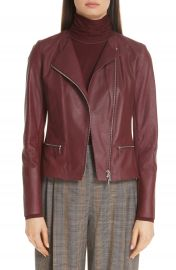 Lafayette 148 New York Trista Lambskin Leather Jacket at Nordstrom