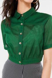 Lafayette Button-Down Crop Top by Urban Outfitters at Urban Outfitters