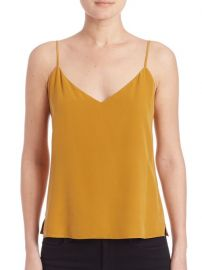 Lagence silk spaghetti strap tank at Saks Fifth Avenue