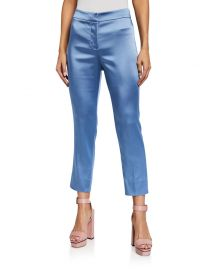 Lago Straight-Leg Pants by Veronica Beard at Neiman Marcus