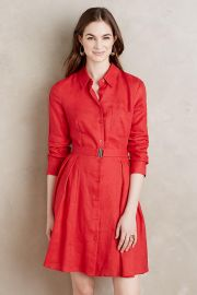 Laila Linen Shirtdress at Anthropologie