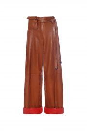 Lambskin Paper Bag Pants by Fe Noel at Fe Noel
