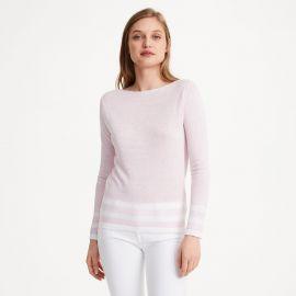 Lana Block Strip Sweater at Club Monaco