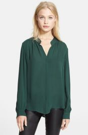 Land39AGENCE Print Silk Georgette Blouse at Nordstrom