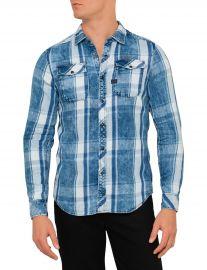Landoh shirt in indigo check at G Star