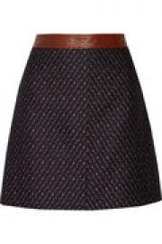 Lanitta leather-trimmed jacquard mini skirt at The Outnet