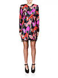 Lanvin - Lace-Trim Shoe-Print Dress at Saks Off 5th