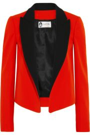 Lanvin   Two-tone wool-twill tuxedo jacket at Net A Porter