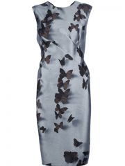 Lanvin Butterfly Print Dress - at Farfetch