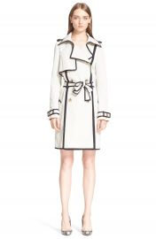 Lanvin Contrast Trim Trench Coat at Nordstrom