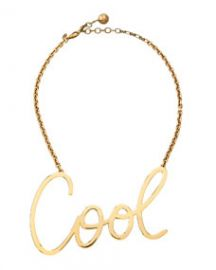 Lanvin Cool Word Pendant Necklace at Neiman Marcus