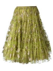 Lanvin Embellished Tulle Skirt - at Farfetch