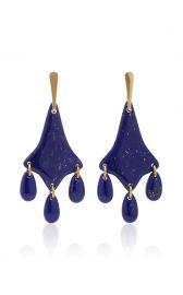 Lapis Three Directions Earrings by Lisa Eisner at Moda Operandi