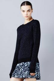 Large Frond Leaves Sweater at Opening Ceremony